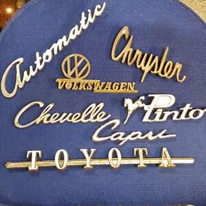 Vintage Car Emblems