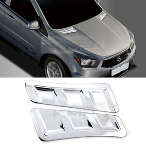 Chrome Bonnet Duct Garnish Molding C860 for SSANGYONG 2014 - 2016 Actyon Sports