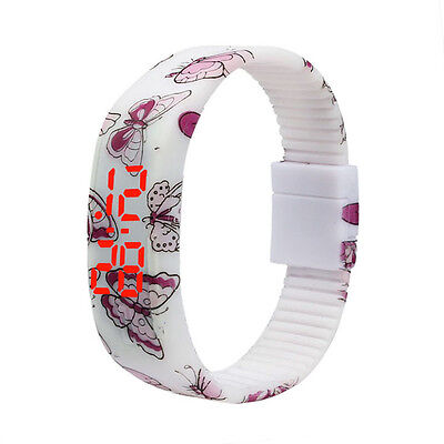 2015 New Ultra Thin Men Girl Sports Silicone Digital LED Bracelet Wrist Watches