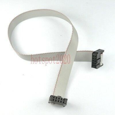 2pcs 2.54mm Pitch 2x5 10pinwire Idc Flat Ribbon Cable Jtag Avr Wire Length 30cm