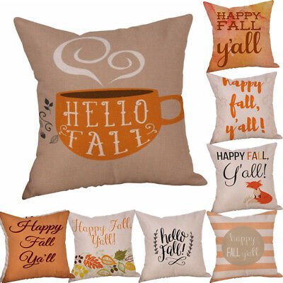 Happy Halloween Pillow Cases Linen Sofa Cushion Cover Case Home Room Decor Hot