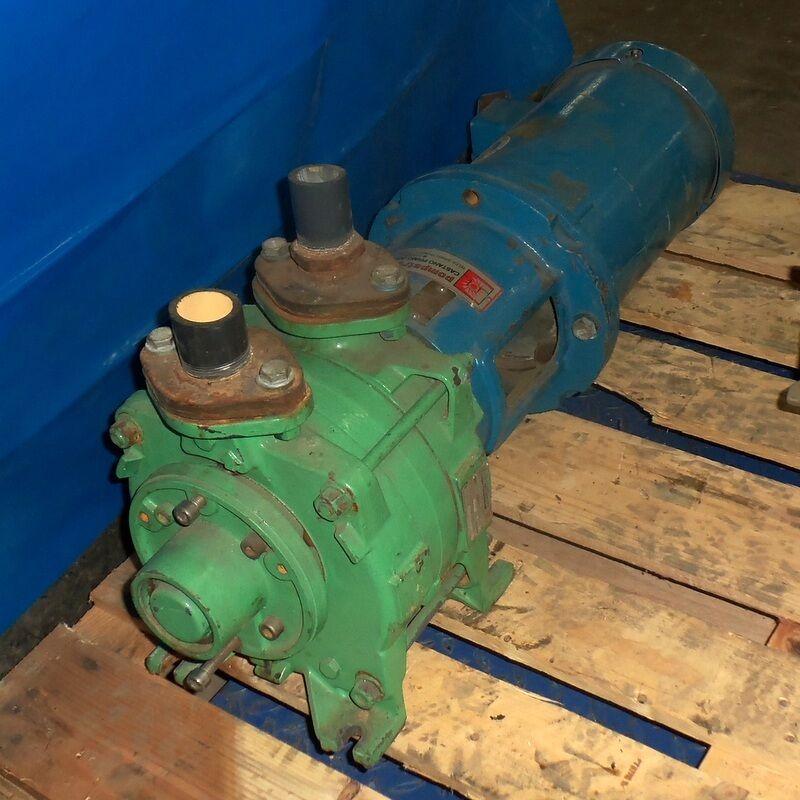 POMPETRAVAINI VACUUM PUMP PLM 31A/5C-M/F W/ 1725RPM 5HP BALDOR MOTOR VM3615T