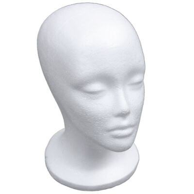 Female Foam Mannequin Head Model Hat Wig Display Stand Rack White