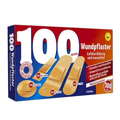 100 Stk. Wundpflaster wasserfest Pflaster Set Erste Hilfe Verband