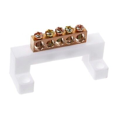 5 Positions Electric Cable Connector Screw Barrier Terminal Strip Block Bar