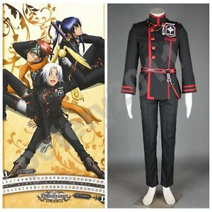 Custom-made D.Gray man Anime Allen Walker Exorcist Uniform Cosplay Costume