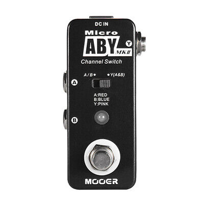 Mooer ABY MKII Channel Switch Guitar Effect Pedal True Bypass MAB2
