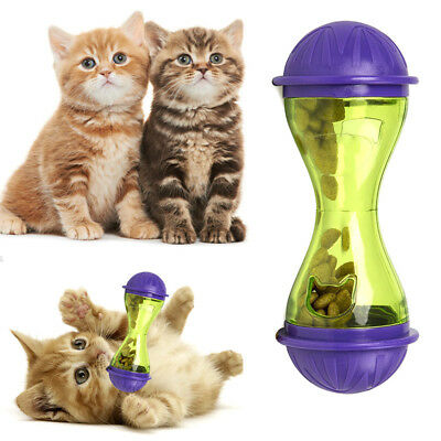 Cat Dog Feeder Plastic Funny Pet Food Dispenser Treat Ball Puppy Leakage Toy New