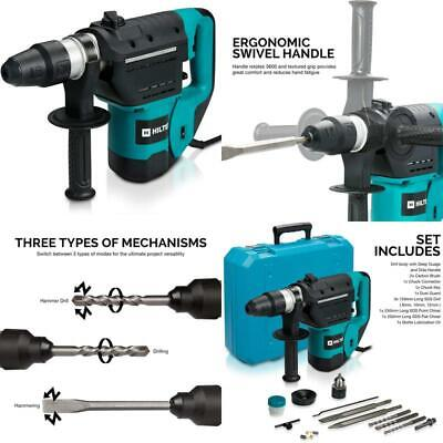 Demolition Hammer 1-12 In Sds Chisels Rotary Drill Jack Concrete Breaker Punch