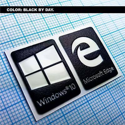 (Windows 10 Sticker Set.  Aufkleber Luminoscent - 250 minutes of self ilumination)