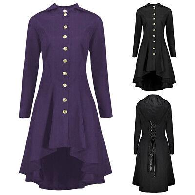 Damen Steampunk Kostüm Party Hochzeit Punk Viktorianische Spitze Jacke Mantel - Viktorianische Dame Kostüm