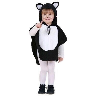 KATZE KLEIN KINDER KOSTÜM Tier Baby Umhang Poncho - Kleine Katze Kostüme