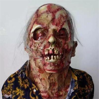 Halloween Zombie Mask Latex Bloody Scary Extremely Disgusting Adult Latex Mask