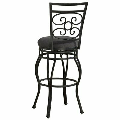 """Bowery Hill 26"""" Swivel Counter Stool in Charcoal Grey"""