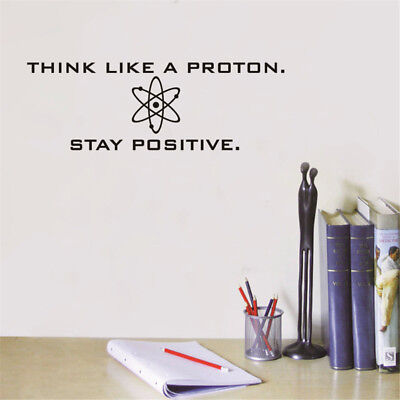 Positive Science Vinyl Wall Decals Sticker Office Home Study Room Art Decor  - Science Decor