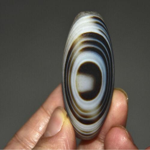 Natural  SARDONYX  DZI  EYE bead  Agate eye stone  bead   55mm