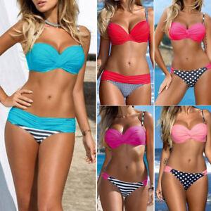 Mujer-Set-De-Bikini-Push-up-Sujetador-Con-Relleno-Banador-Ropa-bano-traje-WOW