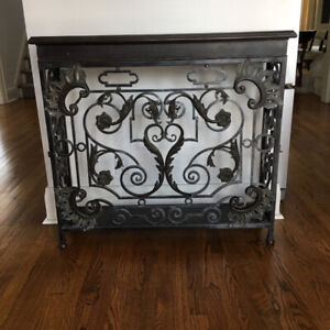 Console Table, Wrought Iron, with side doors