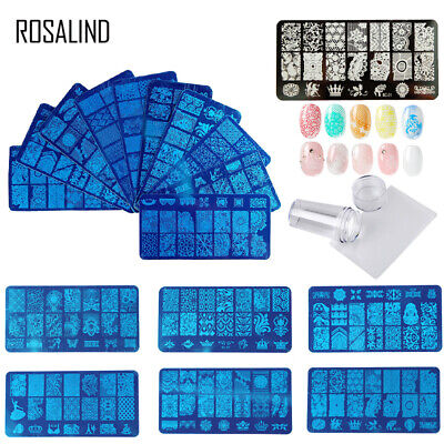 ROSALIND Nail Art Stamping Plates Pattern Stamp Image Plates stencil Templates