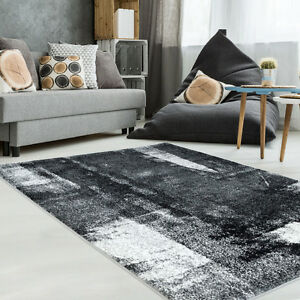 Unigue Black&Grey  Area Rug,Living Room,Bedroom,Kids Room