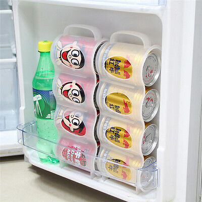 Kitchen Accessories Fridge Beverage Can Space-saving Organizer Storage Box -YH