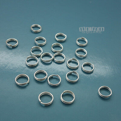 20 PC Solid Sterling Silver 6mm 22 Gauge/0.6mm Split Jump Ring Connector #33127
