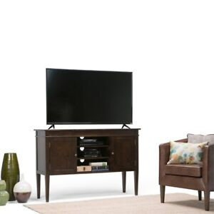 Simpli Home Carlton Collection Tall Tv Media Stand 54 By 36 Inch Dark