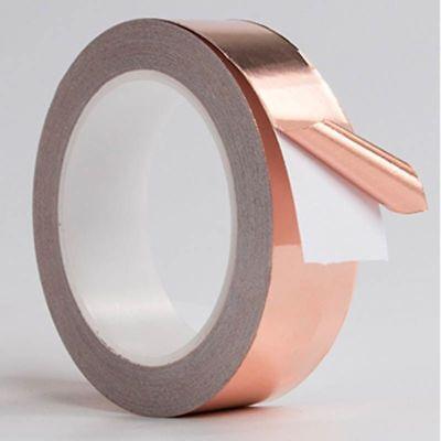 Conductive Slug Tape With Single Adhesive Copper Foil Repellent Shield Strip New