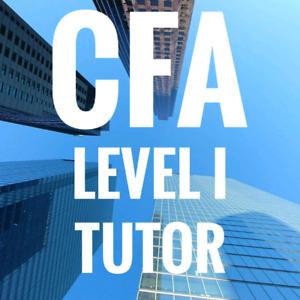 CFA level I exam tutor for only $25/hr