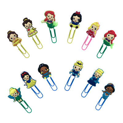 50pcs Baby Princess Paper Clips Bookmarks Office Binder School Stationery Gift