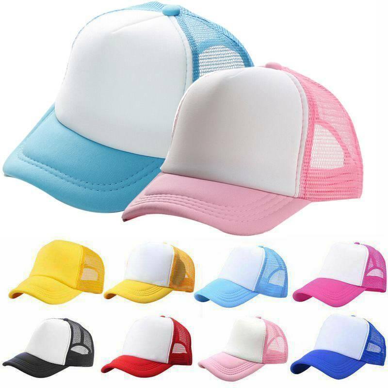 Boys Girl Breathable Baseball Cap Kids Toddlers Sun Mesh Snapback Hat Headwear Baby