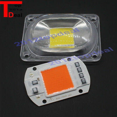 10pcs Led Cob Chip Lens Reflector 230v 220v 110v 20w 30w 50w F Led Flood Light