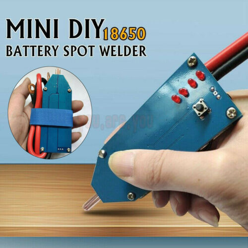 Portable Mini Diy Battery Energy Storage Spot Welder Tools W Line 4v 12v Ebay