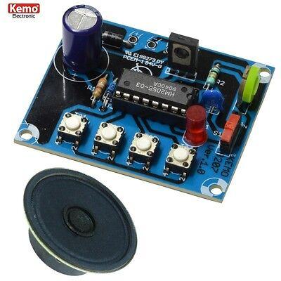 S972 Kemo B207 Dampflokgeräusch mit Pfeife + Glocke mit Lautsprecher 8 Ohm 0,25W