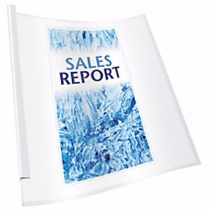 Box of 25 clear transparent report cover file folder Brand new London Ontario image 1