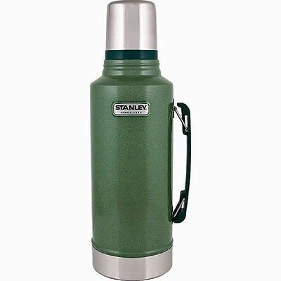 Stanley 2-Quart Green Stainless Steel Thermos Vacuum Bottle w/ Side Handle  NEW