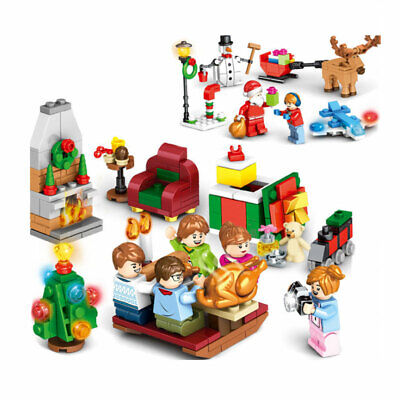 Cute Scene Boy (Christmas Girls Boys Scenes Building Blocks Bricks Figures Cute Assembled)