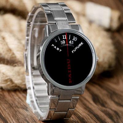 PAIDU Cool Turntable Dial Stainless Steel Strap Men Boy Quartz Wrist Watch Gift comprar usado  Enviando para Brazil