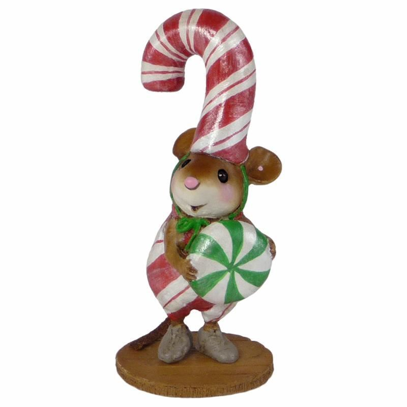 Wee Forest Folk M-544 Candy Cane Chris (RETIRED)