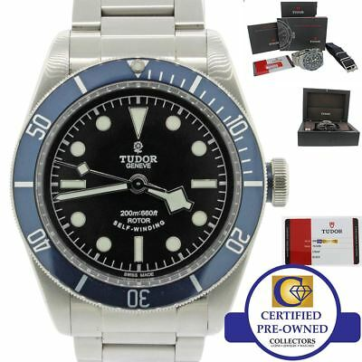 2014 Tudor Black Bay Heritage 79220B Steel Blue 41mm Dive Watch Complete B & P