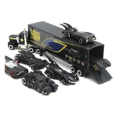 7pcs Batman Batmobile & Truck Car Model Toy Vehicle Alloy Diecast Kids Xmas Gift (Kids Batmobile Car)