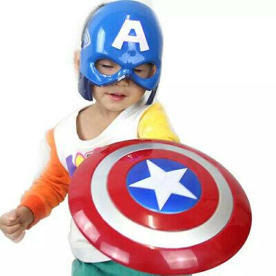 Captain America Shield For Kids (Captain America Shield Helmet Avengers Super Hero Cosplay for Kids Toy)