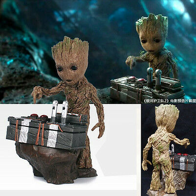 USA STORAGE Guardians of the Galaxy Vol.2 Push Bomb Baby Groot Figure Statue Toy
