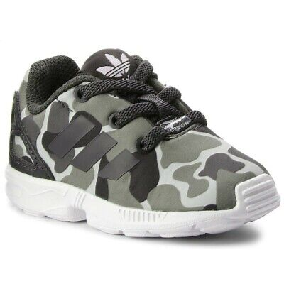 Boys Infants Baby Kids Adidas ZX Flux Trainers AQ1744