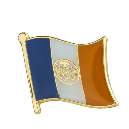 "New York City Flag Lapel Pin 19 x 16mm (5/8"" x 3/4"") Hat Tie Tack Badge Pin"
