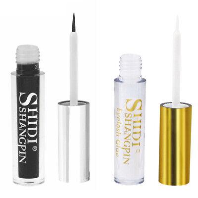Clear Black Waterproof False Eyelashes Glue Durable Adhesive Lashes Makeup Tool (Adhesive Makeup)