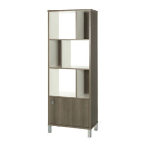 South Shore 1016 Expoz 3-Cube Shelving Unit with Door Storage