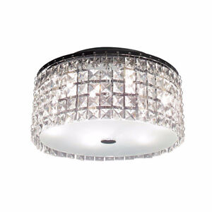 Chrome Ceiling Light with Glass Beads