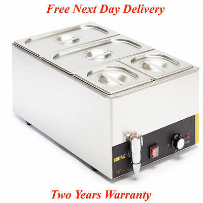 Wet Heat Bain Marie With Tap Pans Pot Cookware Commercial Electric Food Warmer