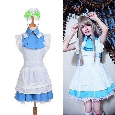 Minami Kotori Mini Blue Dress Girl's Maid Dress Anime Love Live Cosplay Costume](Anime Blue Dress)